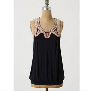 Like New! Anthro C.Keer XS Remnant Necklace Tank